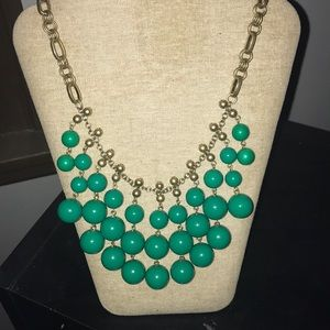 Stella & Dot Jolie Statement Necklace Kelly Green